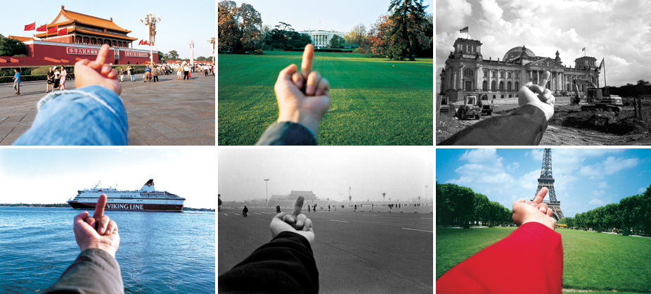 Ai Weiwei gives world his middle finger - publicdelivery.org