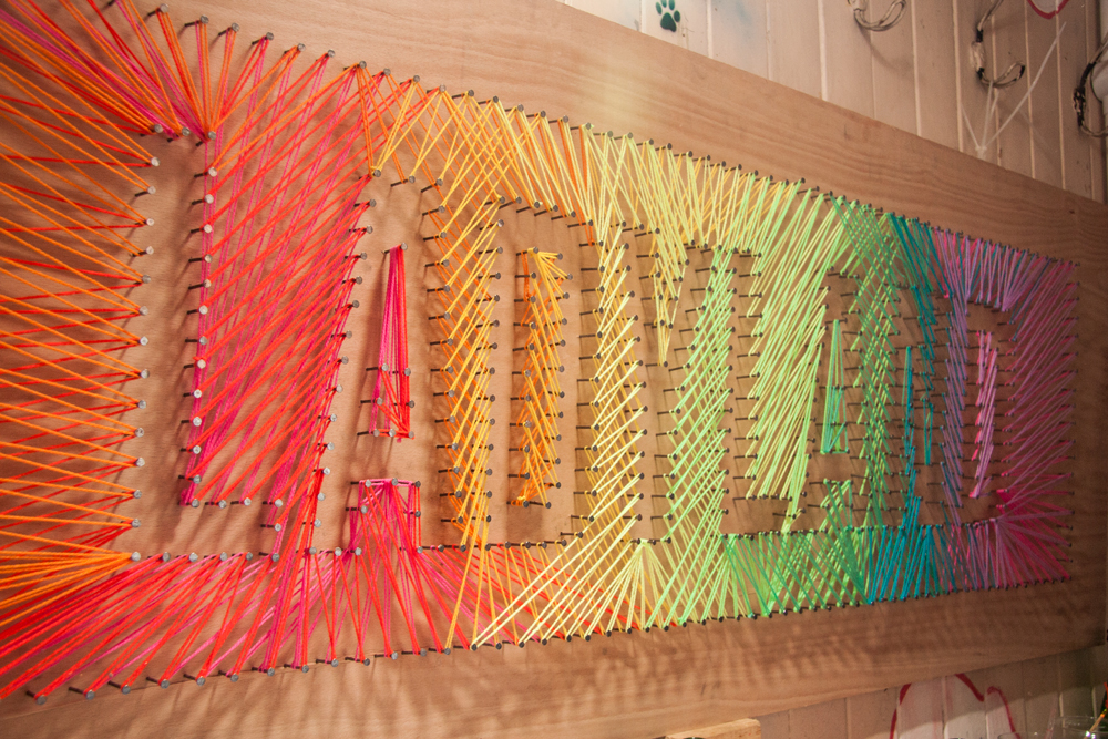 We keep getting requests for a post on the string art from our party ...