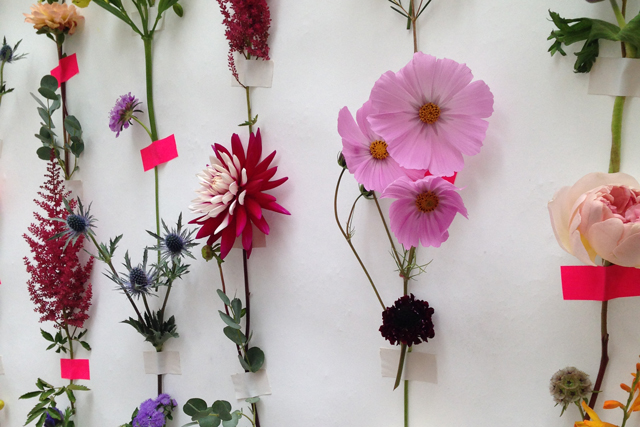 DIY make a fresh flower backdrop