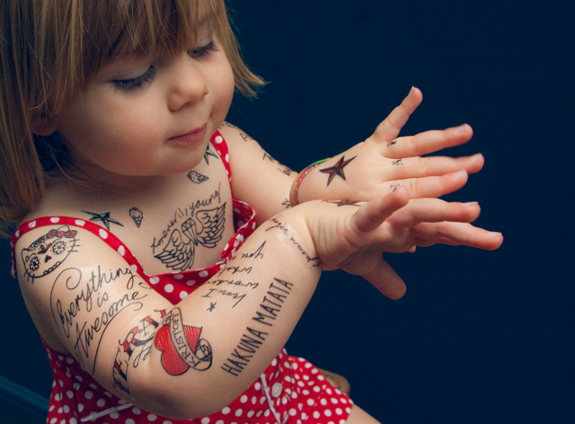 Download your own kids 39 halloween tattoos ladylandladyland for Little kid tattoos