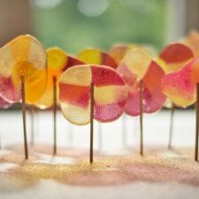 DIY lollypops forest