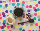 Homemade coffee grounds body scrub