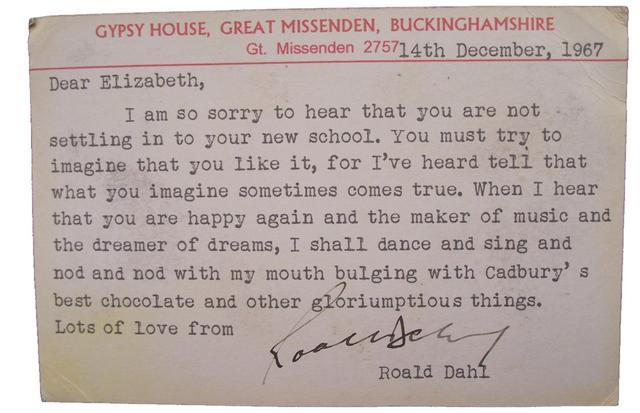 Ladyloop - Roal Dahl's postcard to Elizabeth