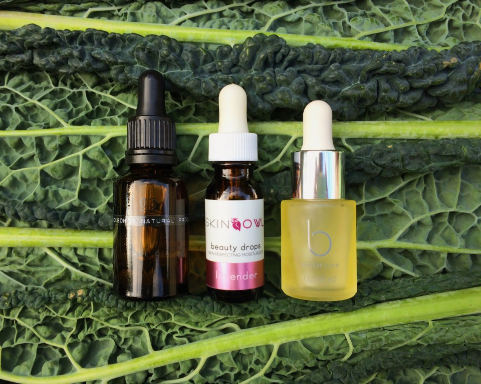 How to green your beauty regime face oils on cavalo nero leaves